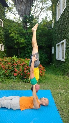 , Reverse Shoulder Stands on Hands